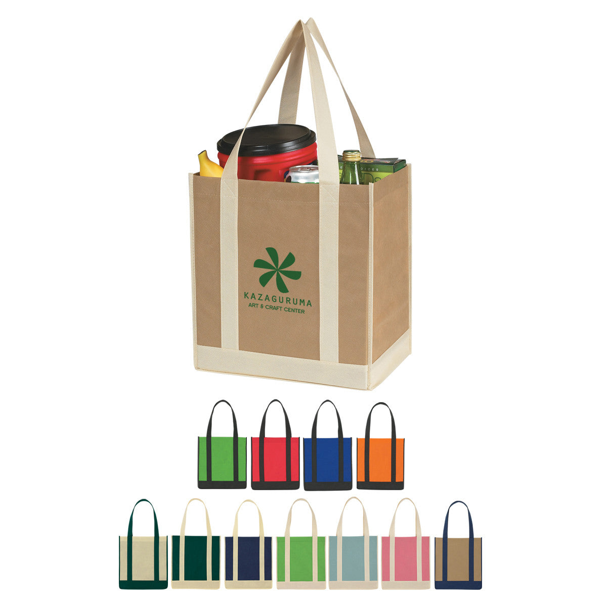Two-Tone Grocery Tote Bags