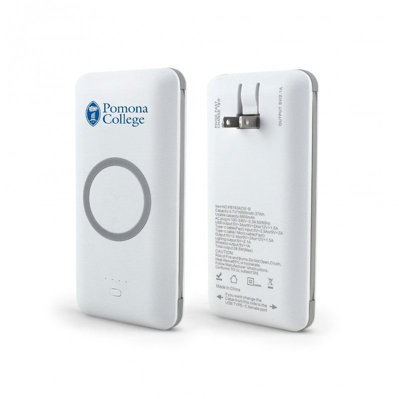 branded mobile charger - white