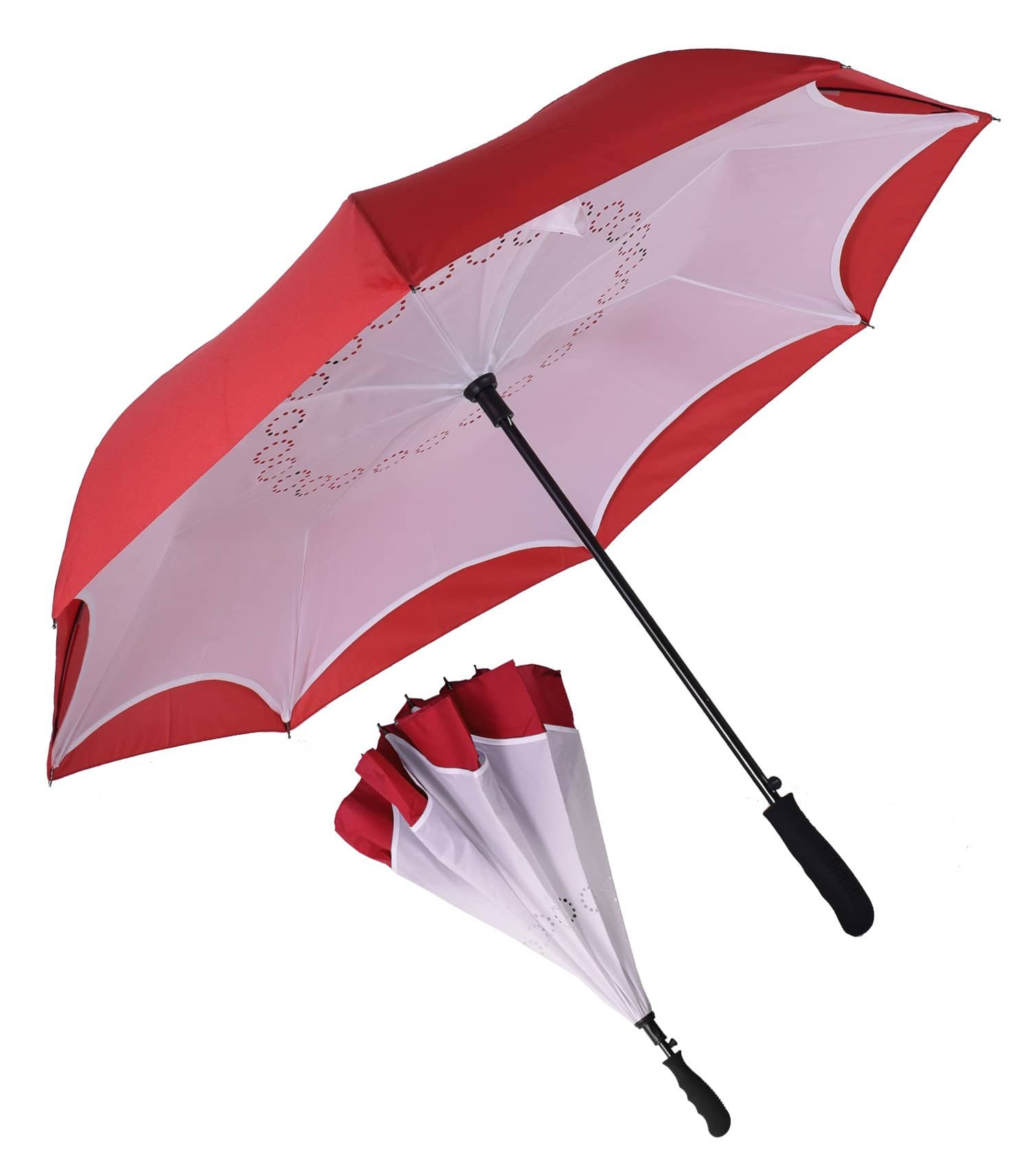 unique custom logo umbrella white red