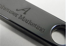 custom engraved flash drives - gunmetal