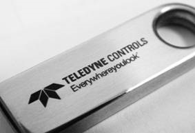 custom engraved flash drives - silver