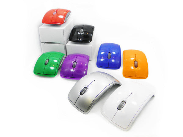 custom wireless folding mouse - colors