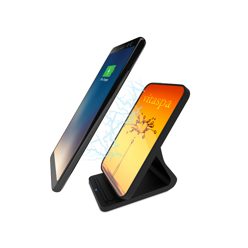 custom wireless charging stand with phone