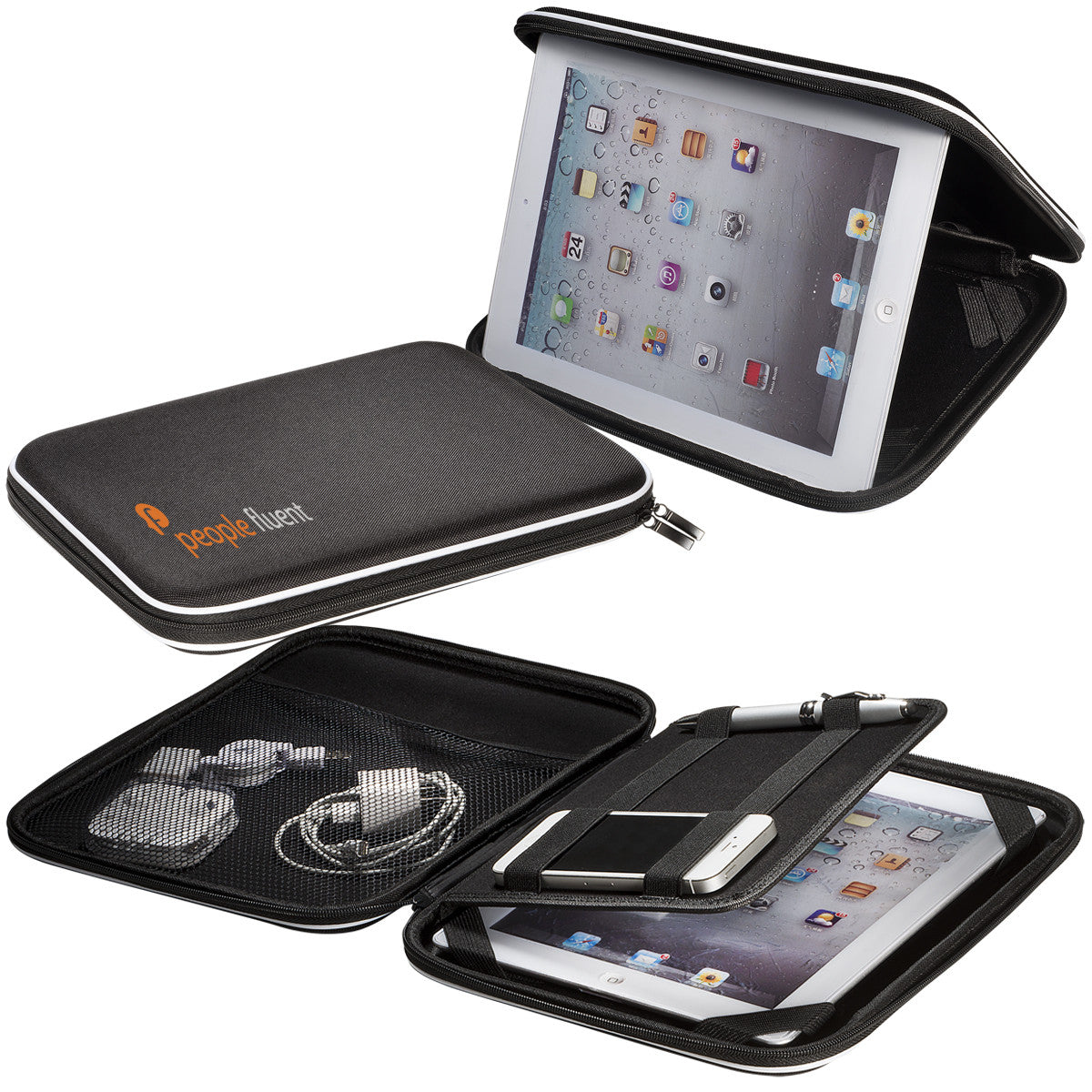 Zip-Up Tablet Organizer Case