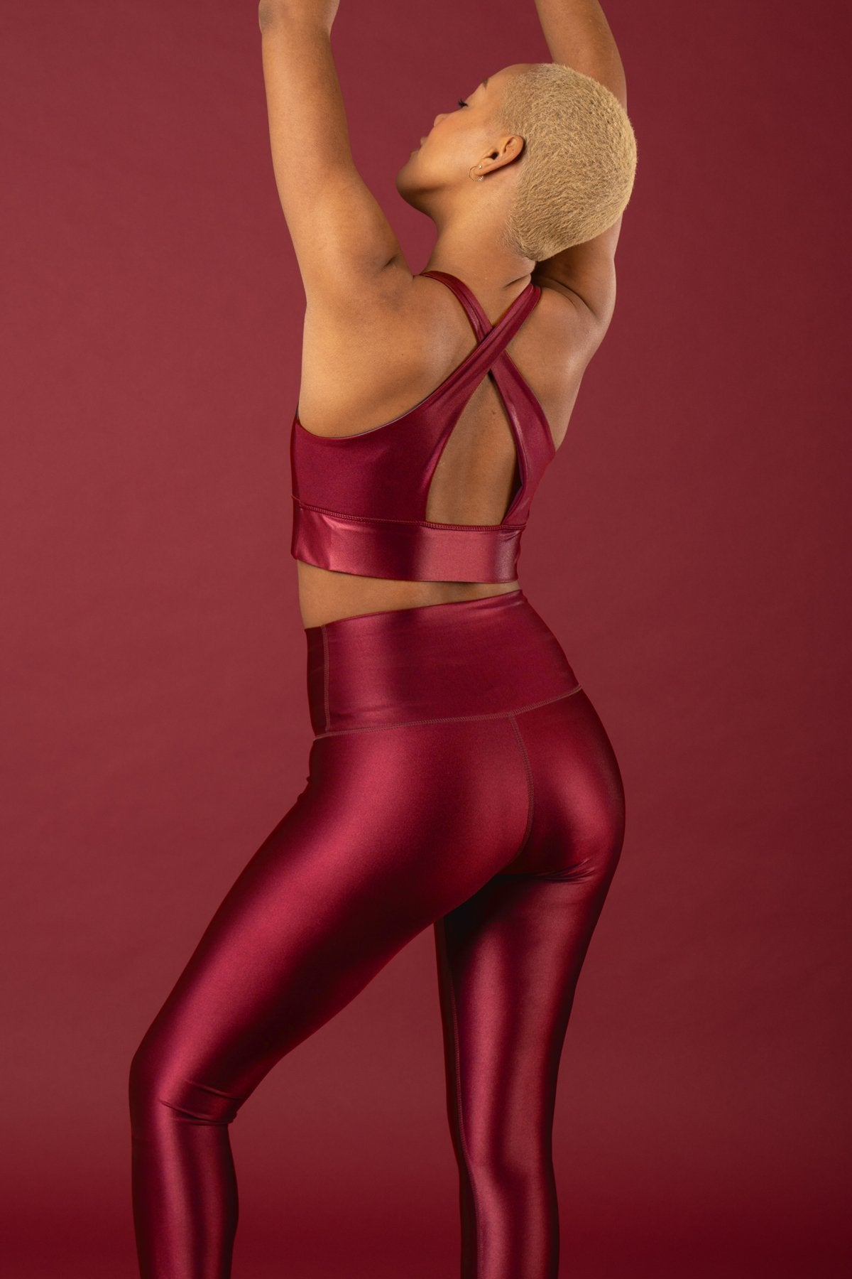 High Shine Signature Tight Scarlet, tights - shopdyi.com