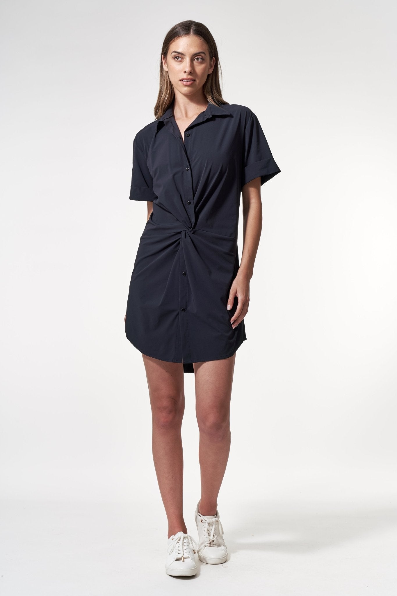 Twist Dress Black, dresses/jumpsuit/skirt - shopdyi.com
