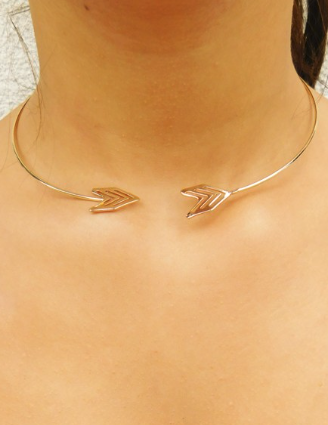 Arrow Open Collar Choker [color options] - MADDOX
