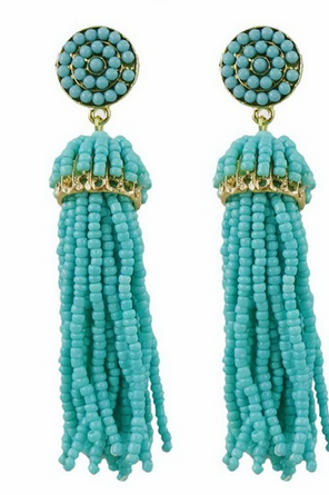 Beaded Tassel Earrings [color options] - MADDOX