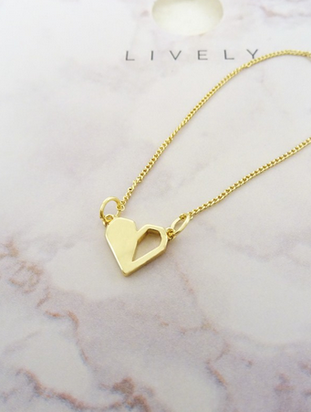 Digital Heart Necklace