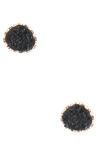 Druzy Stone Studs [color options] - MADDOX