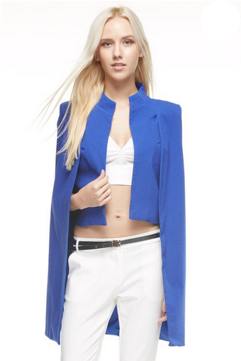 High Low Cape Blazer - MADDOX
