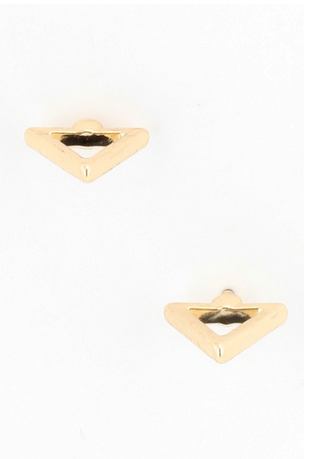 Metal Triangle Earrings  [color options] - MADDOX
