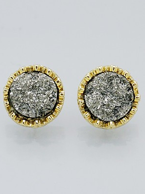 Round Druzy Studs [color options] - MADDOX