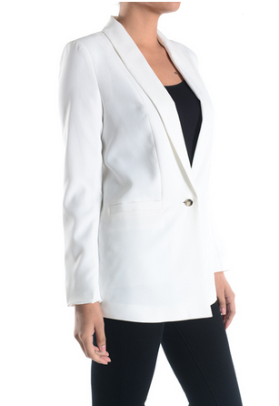 One Button Boyfriend Blazer [color options] - MADDOX