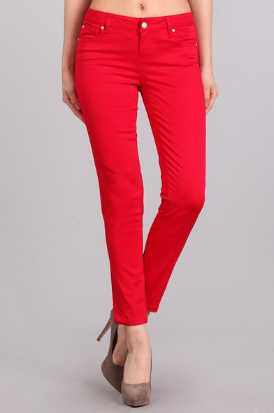 Slim Fit Colored Pants  [color options] - MADDOX