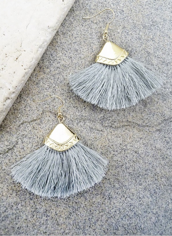 Fanned Tassel Earrings [color options]