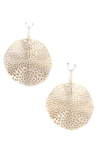 Wavy Disc Earrings [color options] - MADDOX