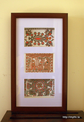Framed Mithila Art - Gift Set1