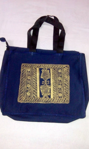 Hand Crafted Bag with Madhubani Art