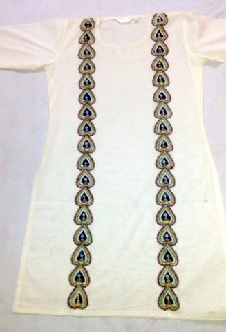 Madhubani painting on kurti 3