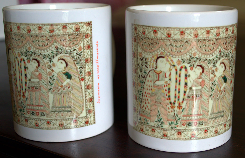 Mithila Art, Madhubani Painting, Jaymaala, Coffee Mugs