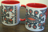 Coffee Mug with Madhubani Painting, Mithila Painting, Dus paat