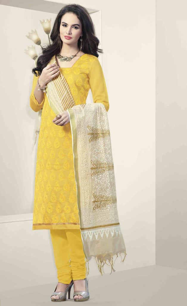 Yellow Straight Suit Salwar Kameez-IY1866