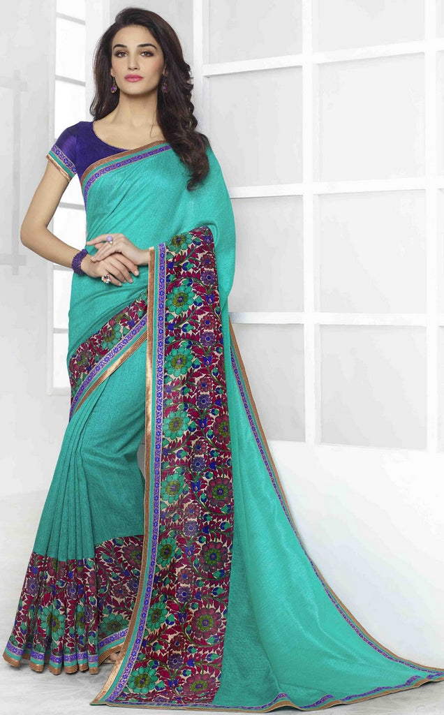 Sea Green Traditional Saree-IY1885