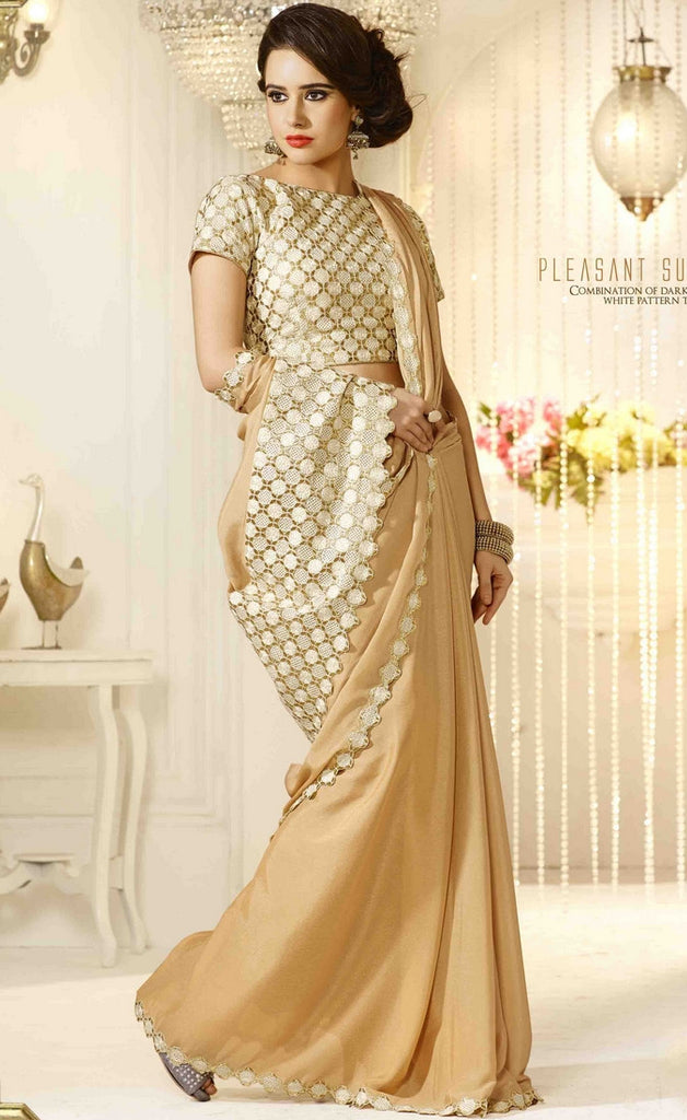 Beige Traditional Saree-IY1886