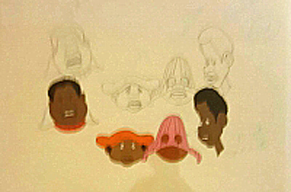 Fat Albert and the Cosby Kids Filmation Original Production Animation Cel Hand Painted and Matching Production Drawing