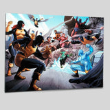 X Men Giant Size 1 Marvel Comics Artist Paco Medina Fine Art Canvas Giclee Print Numbered