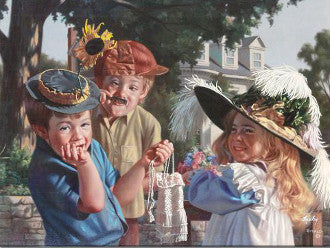 Bob Byerley Artist Signed Fine Art Canvas Print Make Em Laugh Hand Embellished