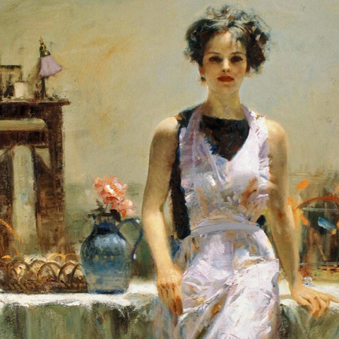 Evening Thoughts Pino Daeni Fine Art Giclee Print Artist Hand Signed and Numbered