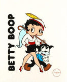 Betty Boop and Bimbo Sericel with King Features Syndicate Official Seal