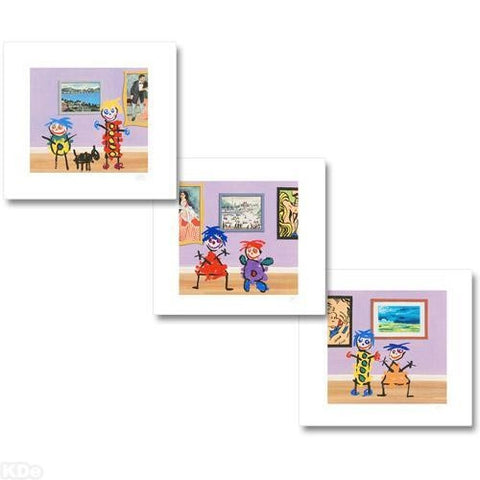 The Little Picture Show John Wilson Fine Art Giclee Triptych Print Artist Hand Signed and Numbered