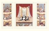 O Sole Meow Linda Jane Smith Triptyc Lithograph Print Artist Hand Signed Numbered and Matted