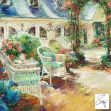 Afternoon Tea Stephen Shortridge Artist Proof Fine Art Stretched Canvas Giclee Print Artist Hand Embellished and Signed
