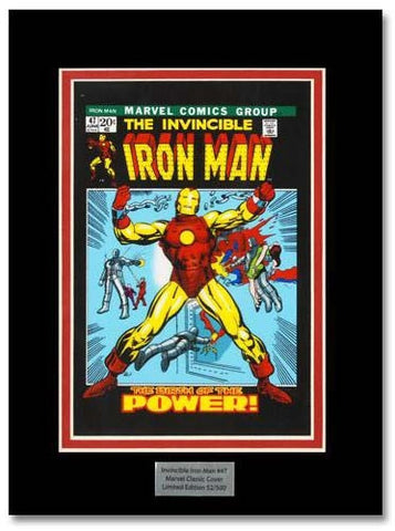 The Invincible Iron Man 47 Marvel Collector Covers Series Artist Gil Kane Fine Art Lithocel Print Numbered and Matted