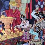 Lamp Lighting Ritual Zu Ming Ho Artist Proof Canvas Giclee Print Artist Hand Signed and AP Numbered