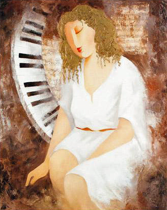 Sonata for Her Arbe Ara Berberyan Canvas Giclee Print Artist Hand Signed and Numbered