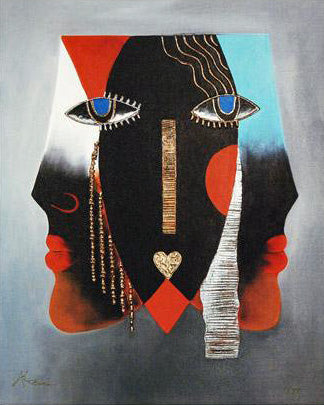 Affairs of the Mind Arbe Ara Berberyan Canvas Giclee Print Artist Hand Signed and Numbered