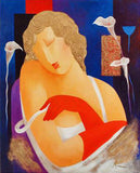 The Actress Arbe Ara Berberyan Canvas Giclee Print Artist Hand Signed and Numbered