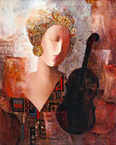 Violin Dream Arbe Ara Berberyan Canvas Giclee Print Artist Hand Signed and Numbered