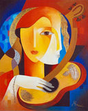 Guitar Melody Arbe Ara Berberyan Canvas Giclee Print Artist Hand Signed and Numbered
