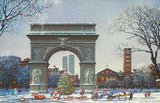 Washington Square Park Alexander Chen Mixed Media Canvas Print Artist Hand Signed and Numbered