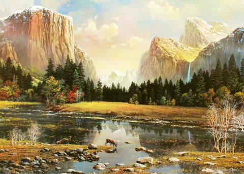 Alexander Chen Yosemite Splendor Fine Art Offset Lithograph Print Artist Hand Signed and Numbered