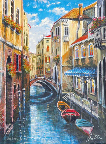 Venice Anatoly Metlan Fine Art Lithograph Print Artist Hand Signed and Numbered