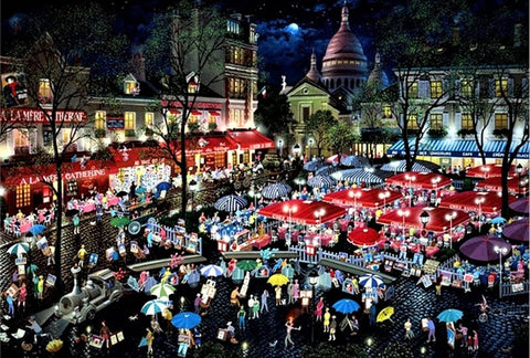 A Night at Montmartre Alexander Chen Fine Art International Edition Mixed Media Print on Canvas Artist Hand Signed and Numbered
