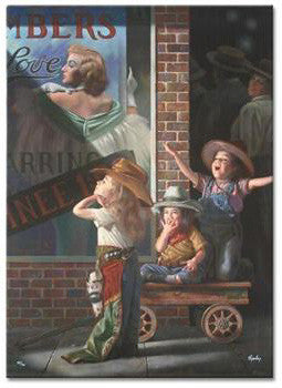 Bob Byerley Matinee Hand Embellished Fine Art Canvas Print Artist Hand Signed and Numbered