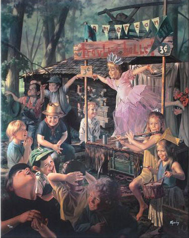 Bob Byerley Travelling Ballet Fine Art Canvas Giclee Hand Embellished Print Artist Hand Signed and Numbered